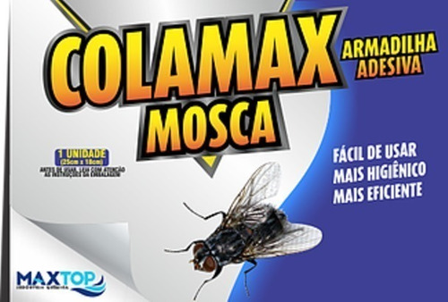 placa adesiva mata mosca mosquito insetos 10 unidades