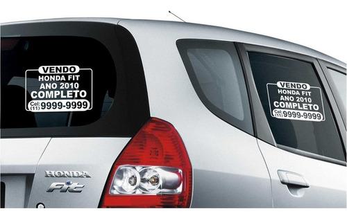 placa adesivo vende-se vendo veículo (trio) 3 peças.