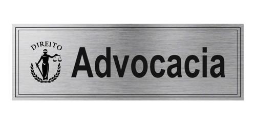 placa advogado, médico, nutricionista, escritório