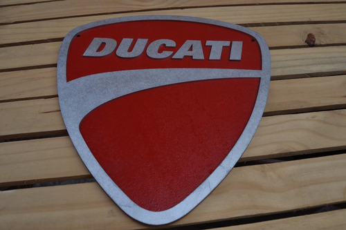 placa  alto relevo ducati motos decor garage