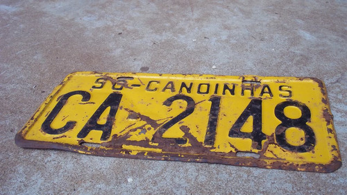 placa amarela antiga