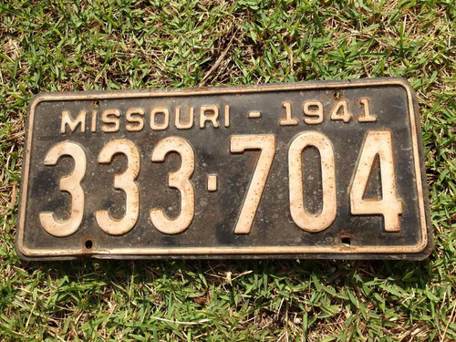 placa americana - missouri 1941 ( license plate )