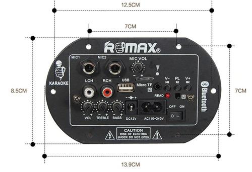 placa amplificada decodificador mp3/ bluetooth/ usb /mic/ p2