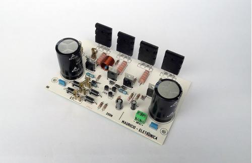 placa amplificador 200w com fonte embutida, ativar caixa