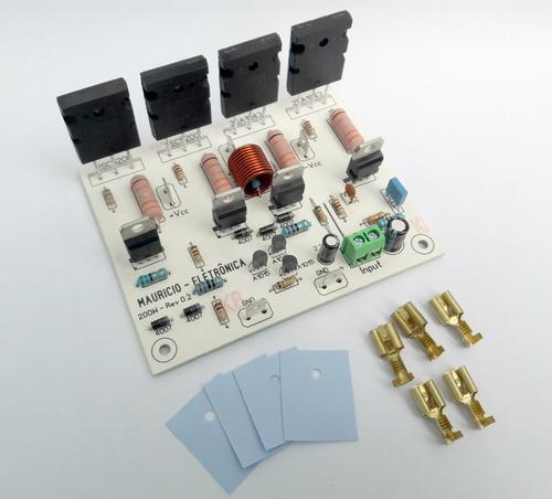 placa amplificador de audio 200w rms potencia,caixa ativa