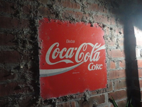 placa antiga coca cola pepsi propaganda texaco 1