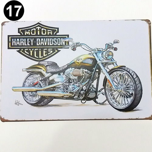 placa antiga moto retrô vintage harley davidson frete grátis