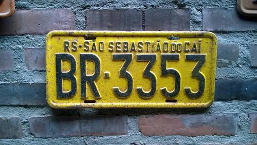 placa antiga rs carro antigo amarela texaco shell
