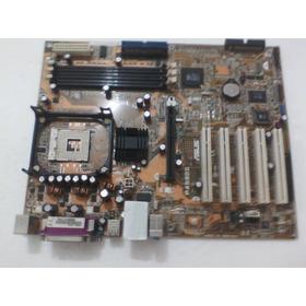 Placa Asus P4s800-mx ,ddr1, Socket 478 - Não Dá Vídeo