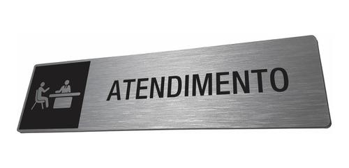 placa atendimento identificação departamento personalizada
