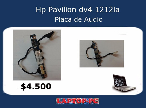 placa audio hp pavilion dv4