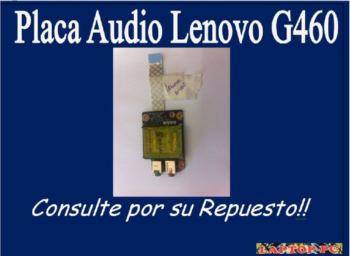 placa audio lenovo g460