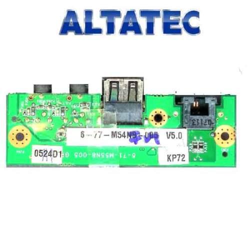 placa audio modem usb amazon pc amz a101  6-71-m55n8-005
