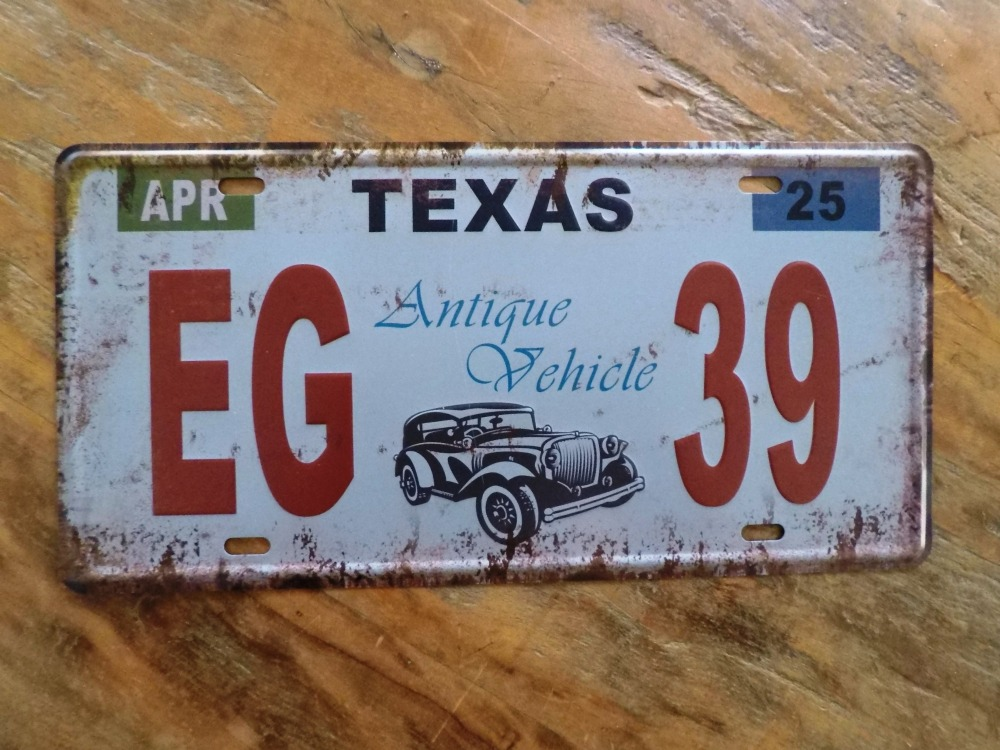 Texas Antique License Plates Inspection - Best Plate 2018