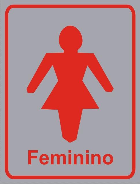 478e87f9d Placa Banheiro Feminino - R  12
