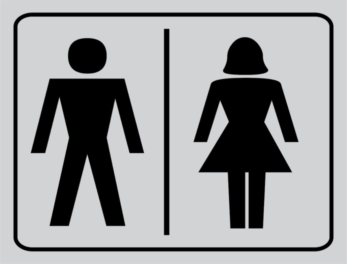 Placa Banheiro Masculino E Feminino  R$ 9,00 em Mercado Livre -> Banheiro Feminino E Masculino Placa