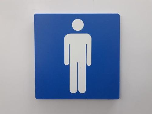 placa banheiro wc sinalização 15x15x3