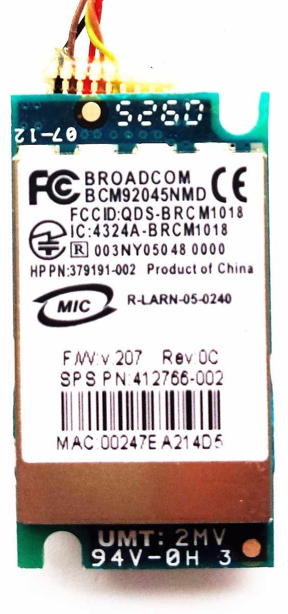 HP BROADCOM BCM92045NMD 64BIT DRIVER