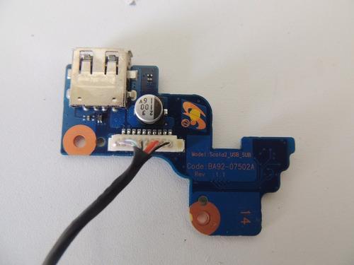 placa botão power usb samsung r4xx séries