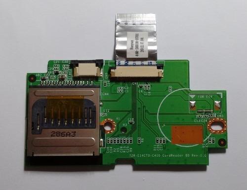 placa botão touchpad / leitor cartão netbook philco 10d
