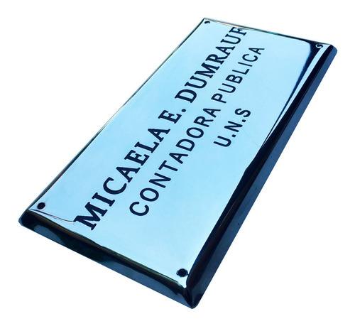 placa bronce profesional, doctor, abogado, contador 30x20 cm