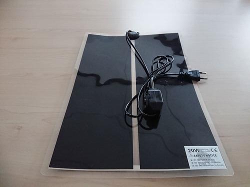 placa calefactora 14 watts regulable erizos reptiles