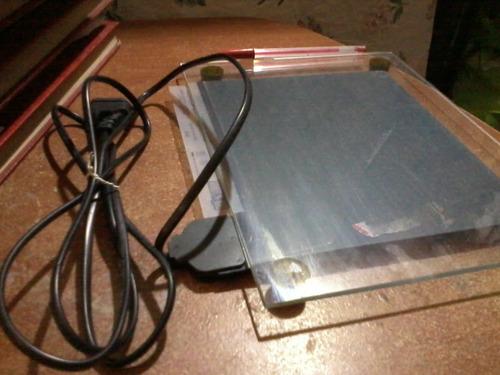 placa calefactora vivario base vidrio mascotas - usada