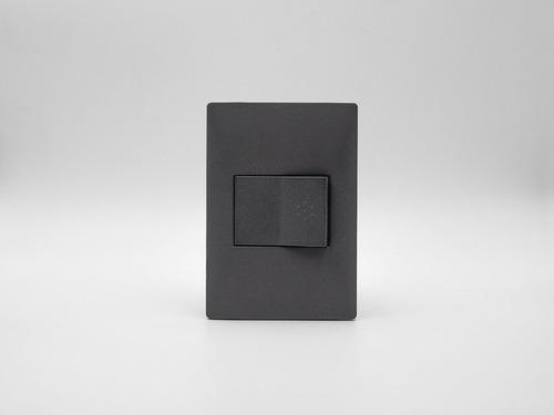 placa cambre gris+1 interruptor