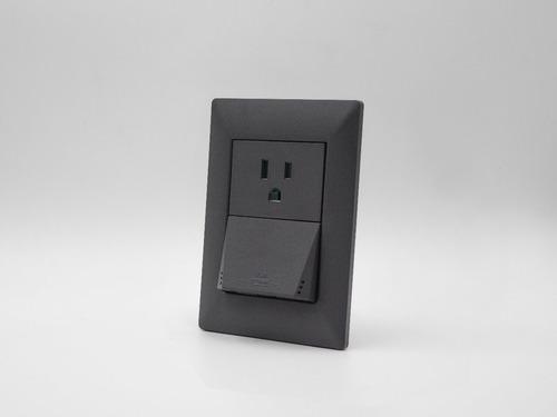 placa cambre  gris + toma usb doble carga ultra-rapida