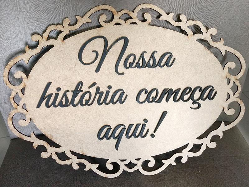 Placa Casamento Festa Frases Frente E Verso