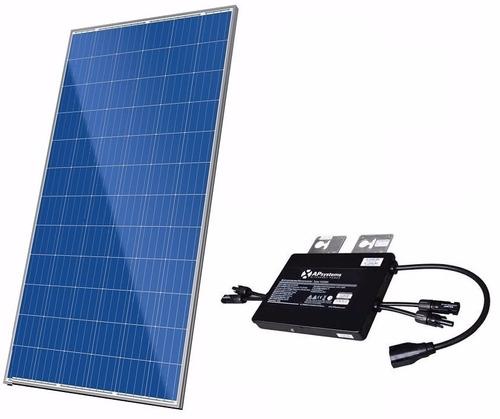 placa celula módulo solar + micro inversor 45kw/mes 320 325w