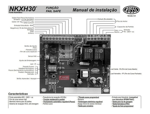 placa central motor rossi dz nano 36 turbo kxh30fs original