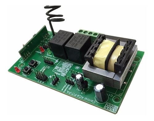 placa central para portão eletrônico ppa com 2 controles