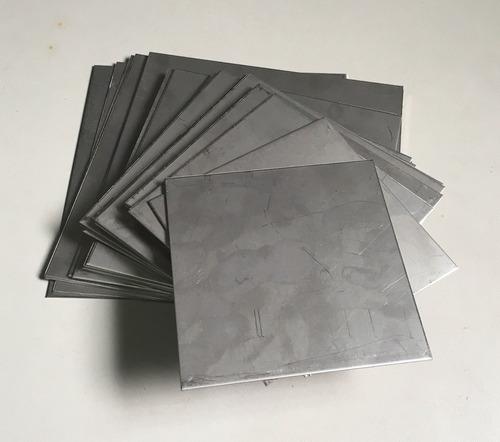 placa chapa aço inox aisi 316l - p/ gerador hidrogênio - hho