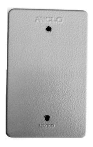 placa ciega metalica 1/2  para registro de aluminio