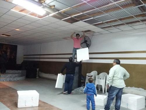 placa cielorraso  desmontable techo telgopor simil  yeso