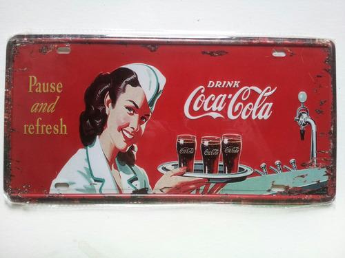 placa cocacola estilo retro