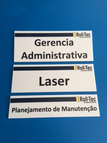 placa comunicação visual impressa personalizada acrilico