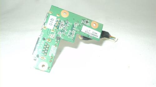placa conector rede rj45/usb notebook sti is1253