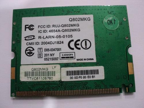 placa conector wireless q802mkg ecs g557s