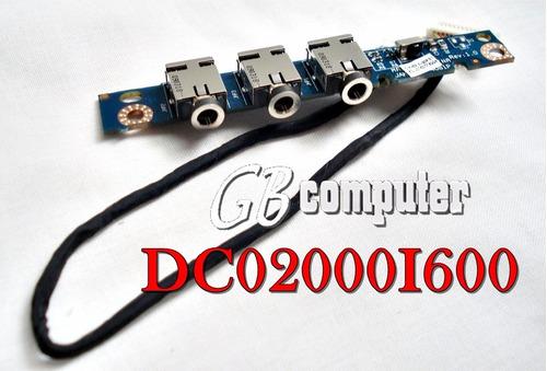 placa conectores de audio con cable hp dv7 dc02000i600
