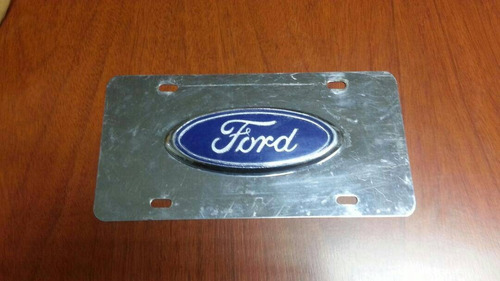 placa cromada logo ford