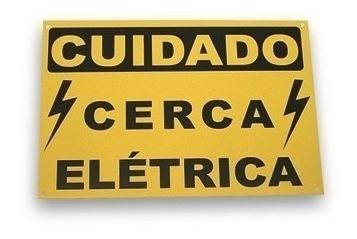 placa cuidado cerca eletrica ecp - 5 unidades