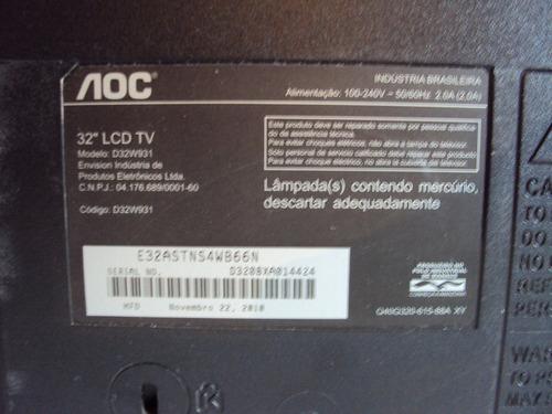 placa da fonte tv aoc d32w931