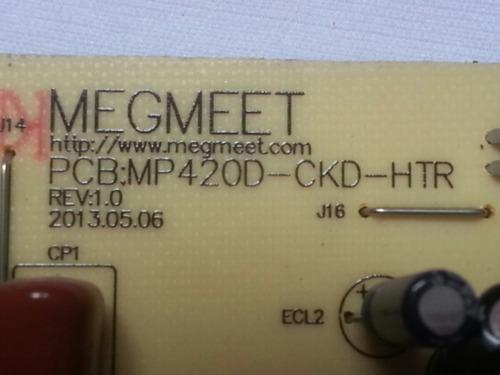 placa da fonte tv cce ln39g pcb : mp420d-ckd-htr rev : 1.0