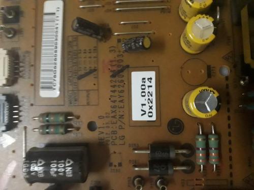placa da fonte tv lg 42lm6400 eax64744204[1.3] (do dia)