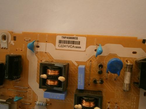 placa da fonte tv panasonic tc-l32b6b usada funcionando perf