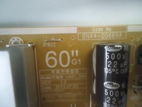 placa da fonte tv samsung un60fh6003 (bn44-00669a)nova