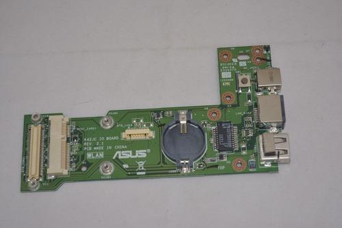 placa dc power asus k42jc jack usb nova conector notebook