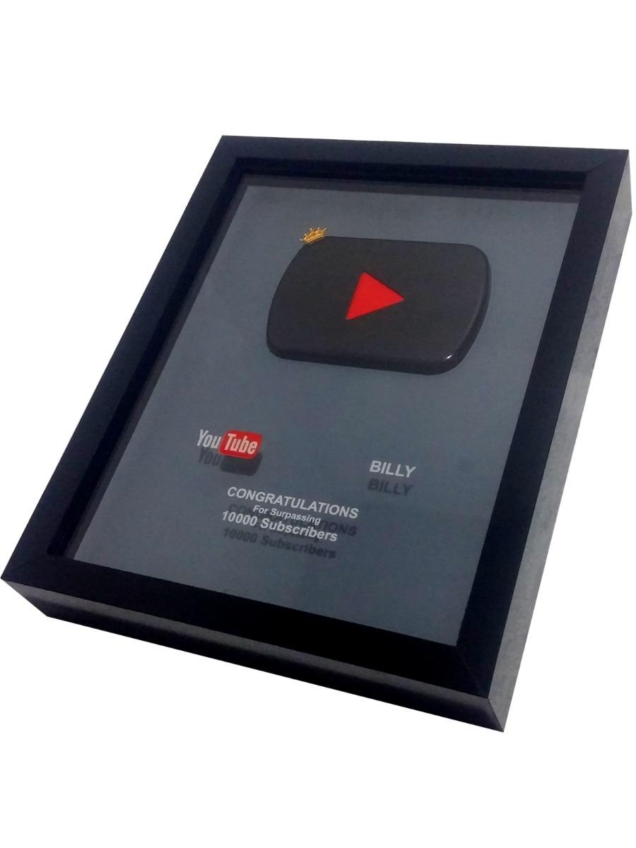 ecd42d75f Placa De 10000 Inscritos Youtube